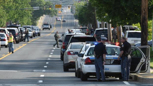 Baltimore police conduct search after the death of a county police officer, Amy Caprio 1.jpg