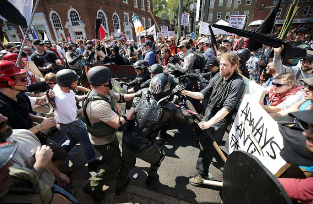 Charlottesville clash between protesters and White Supremacists.png