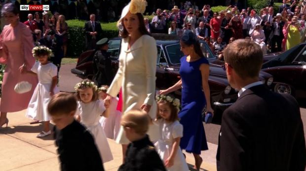 Kate and the pageboys and bridesmaids.JPG