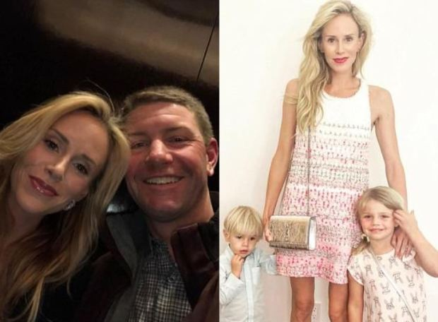 Lucas Glover and Krista Glover [left], Krista with their children [right]r 2.JPG