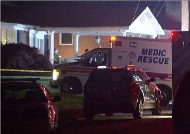 Police activity at the DelTondo home after rachael was gunned down outside on the driveway 2
