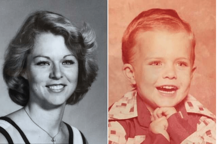 Rhonda Wicht [left], and her four-year-old son Donald 1