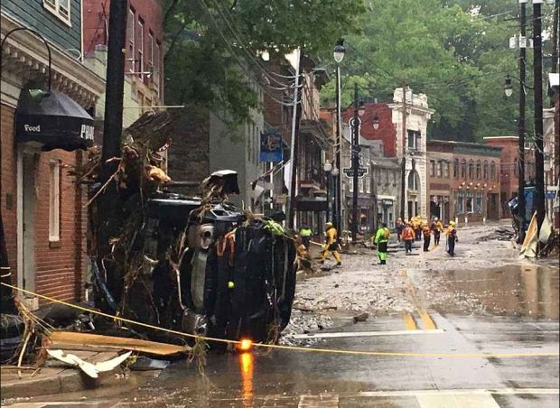 Violent floodwaters surged through Ellicott City, MD on Sunday 2.JPG