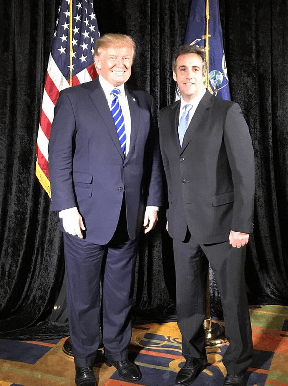 Donald Trump [left], and Michael Cohen 1