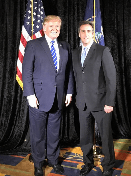 Donald Trump [left], and Michael Cohen 1