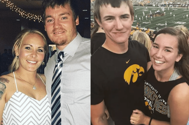 Blake Dalton and his fiancee [left], Jack Dalton and Mollie Tibbetts [right] 1.png