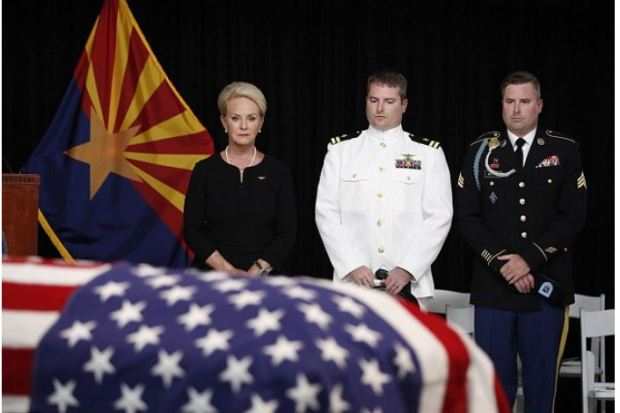 Cindy McCain stands with her sons Jack [center] and Jimmy [right] 2.JPG