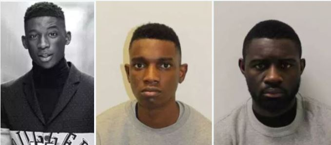 CCTV shows knife-wielding Louis Vuitton model, 24, chasing catwalk rival before stabbing him to death in fight over a girlfriend - as trio are convicted over the killing