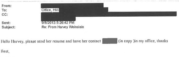 Harvey Weinstein's communication with alleged rape victim 36.jpg