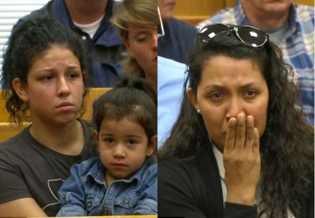 Iris Monarrez [left], and one of Rivera's relatives [right]
