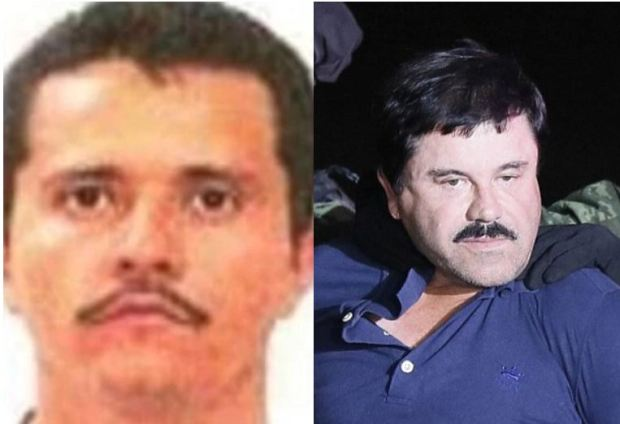 Oseguera Cervantes [left] and Joaquin Guzman 'El Chapo' Loera's [right] 1