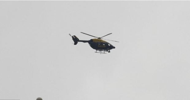 Police helicopter hovered over Parliament for several hours after.JPG