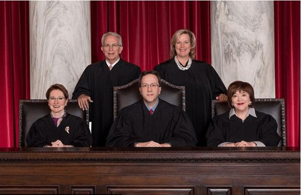 WV Supreme Court Justices Menis Ketchum, Elizabeth Walker, Margaret Workman, Allen Loughry and Robin Davis..png
