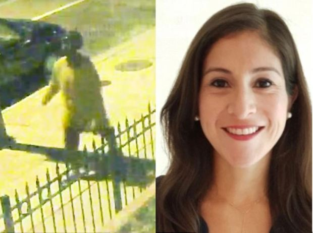 Anthony Crawford, 23, seen in a surveillance video left, in the stabbing death of jogger Wendy Martinez,.JPG