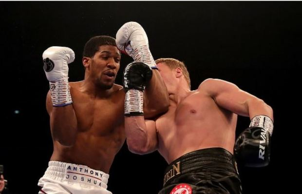 Anthony Joshua [left], vs Alexander Povetkin fight 2.JPG