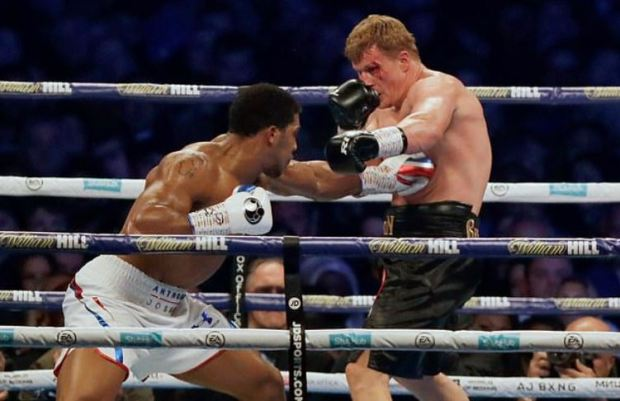 Anthony Joshua [left], vs Alexander Povetkin fight 3.JPG