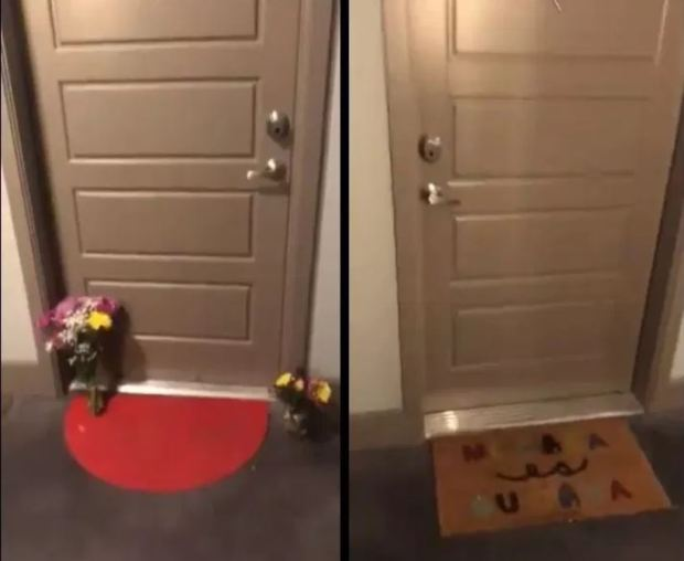 Botham Jeans's door  and Amber Renee Guyger's door.JPG