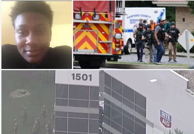 Female shooter, 26, kills three and injures three in morning shooting at Rite Aid warehouse in Maryland business park - Snochia Moseley died in hospital after shooting herself in the head