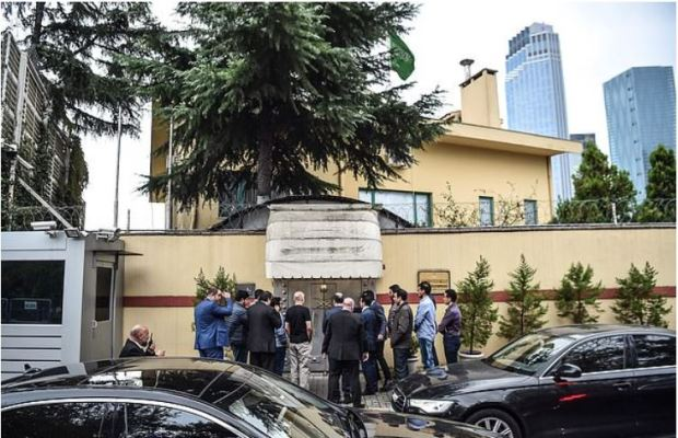 Anonymous source claims to have heard Mr Khashoggi's final minutes on an audio recording made on the journalist's own smartwatch after he entered the consulate.JPG