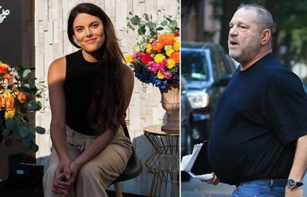 Lucia Evans [left], and Harvey Weinstein 2