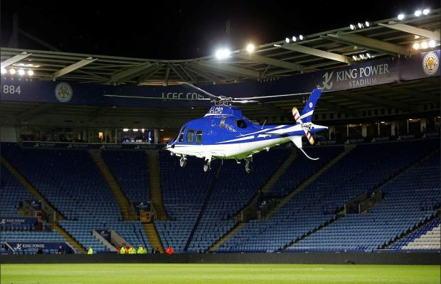 Vichai Srivaddhanaprabha's helicopter taking off before the crash 3