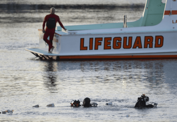 Divers investigate spot where Ali F. Elmezayen drove his car with his kids into the water at the San Pedro Slip, CA1.png