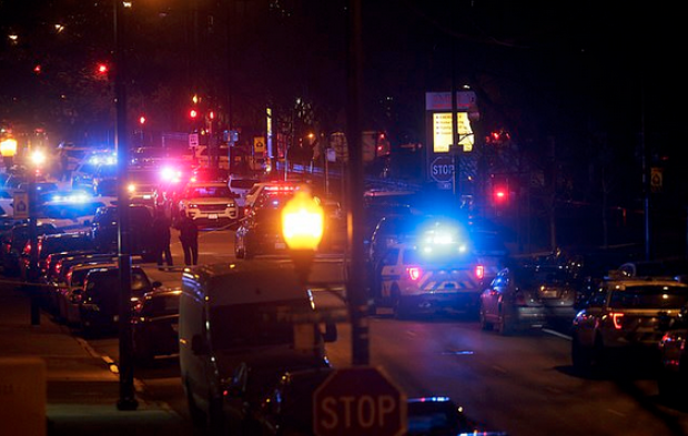 Emergency rescue vehicles outside Mercy Hospital Chicago on Nov 19.png