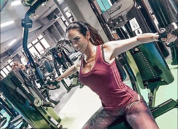 Evgenia Vorobiyova in the gym 2
