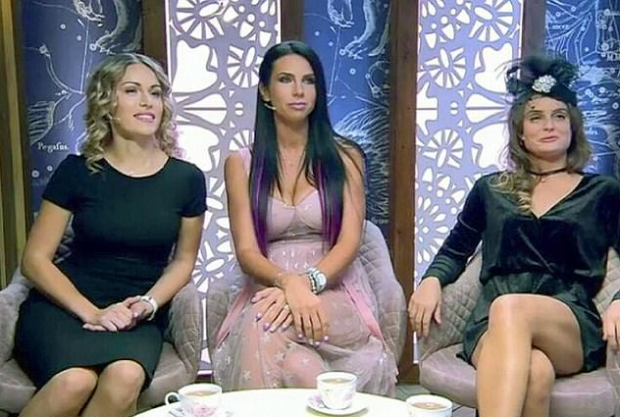 Evgenia Vorobiyova on Russian TV with hosts 1