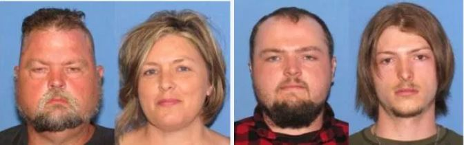 Family of four finally arrested for the brutal murders of eight members of one Ohio family in 2016 - The Wagner family allegedly wiped out the Rhoden family after they 'went to war over custody of toddler' now in their custody