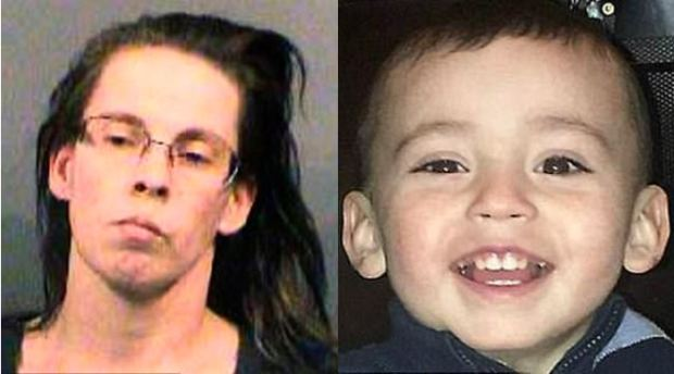 Miranda Miller [left] and her three-year-old son Evan Brewer [right] 1