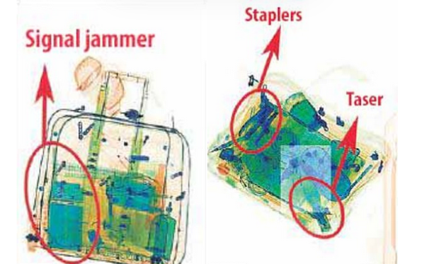 X-ray also showed what appeared to be a pair of staple-guns and a taser in Saudi hit squad luggage 2.png