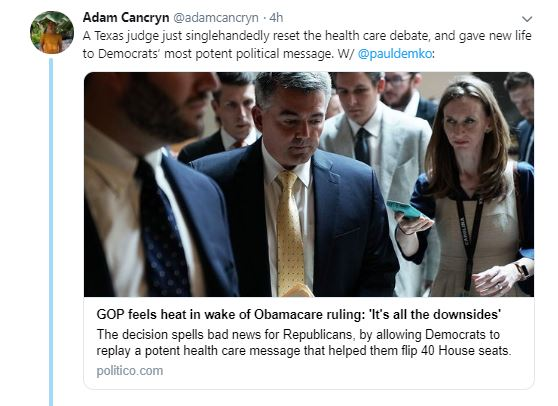 Adam cancryn tweet on ACA ruling