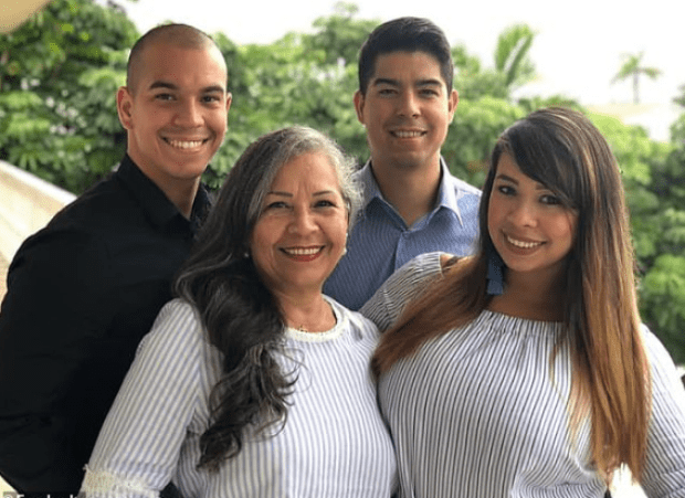 Carla Stefaniak, with her mom and two brothers 1