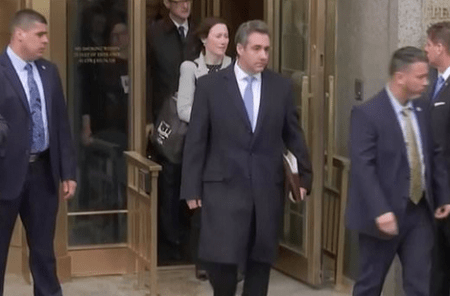 Michael cohen leaves court after 3-year sentence 1