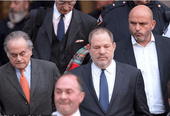 Weinstein's with his attorneys Ben Brafman (left) and private investigator Herman Weisberg (right)2