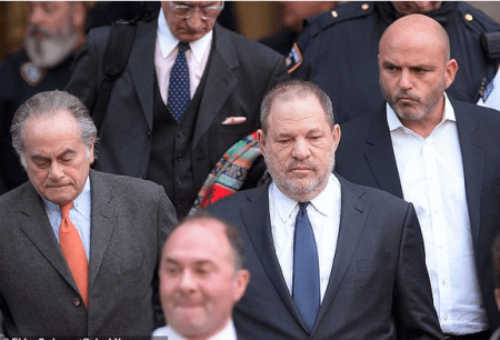 Weinstein's with his attorneys Ben Brafman (left) and private investigator Herman Weisberg (right)2