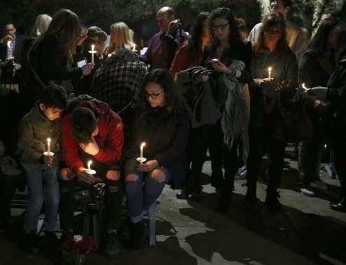 Candle lit vigil honoring Nichol Olsen and her two daughters Alexa Denise Montez, and London Sophia