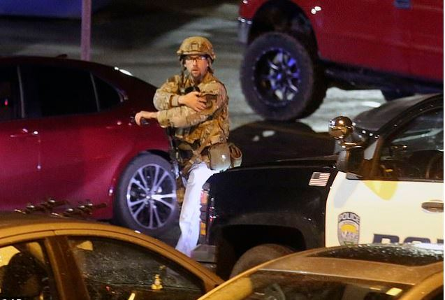 First responders in the parking lot of the University of Utah campus after the shooting of Lauren McClursky 2