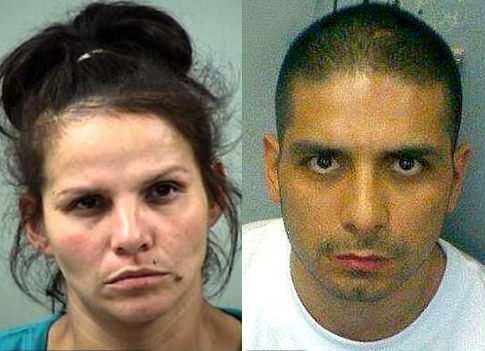 Candie Dominguez, [left] and her cousin Jose Luis Menchaca [right], 1