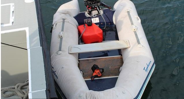 Jacob Blair Scott's inflatable boat