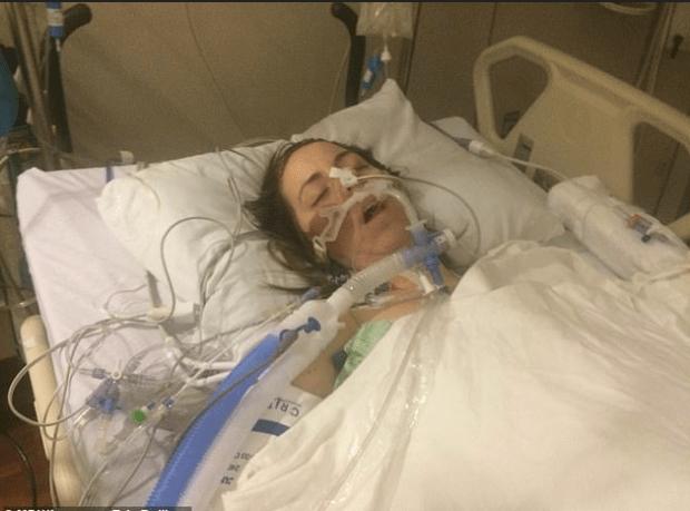Erin Rollings immediately after car crash 1