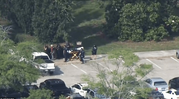 Injured person evacuated by first responders after shooting at Virginia Beach