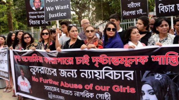 Protesters seek justice for Nusrat Jahan Rafi 1