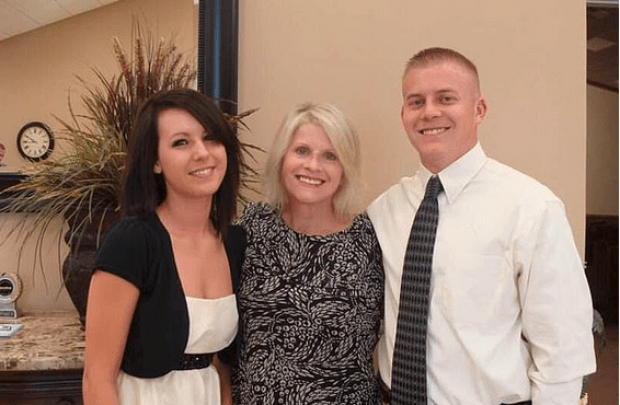 Jennifer McKenzie-Smith [left), her mother-in-law Linda Collins-Smith [center] with Jennifer's husband Butch Smith (right] 1
