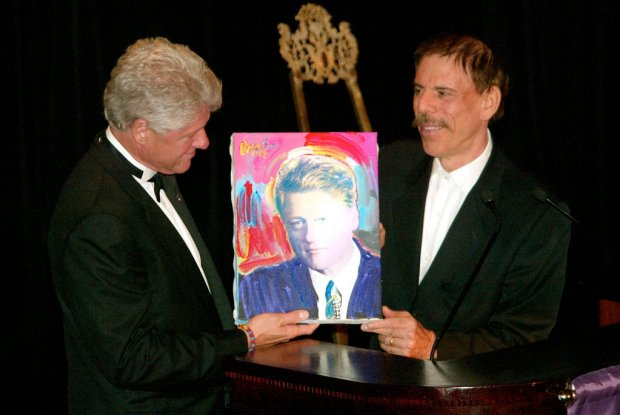 Peter Max and Bill Clinton 2