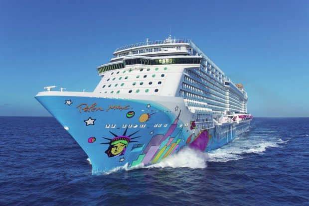 Peter Max themed Swedish cruise ship 1