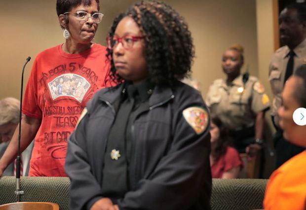 Deborah Marion [left] confront's former daughter-in-law Sherra wright 2