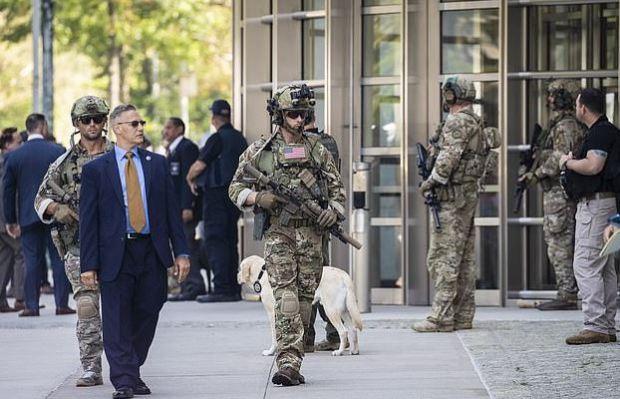 Heavy security at El Chapo sentencing 1