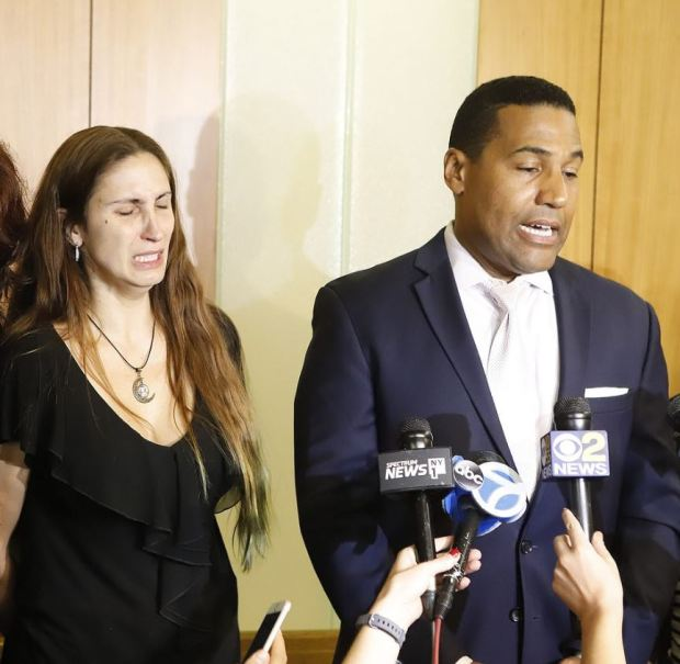 Marissa Rodriguez and hier husband's defense attorney Joey Jackson [right] 1